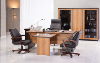 Office furniture staging and design