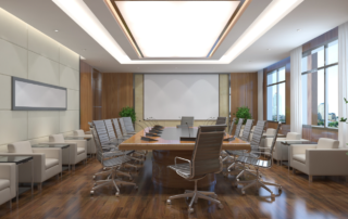 Conference room staging and work space design in California